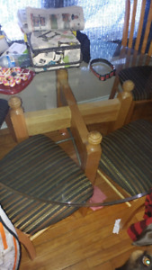 Large glass kitchen table
