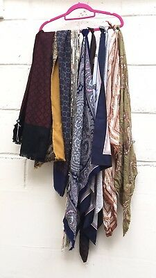 Vintage Job Lot 10 Scarves Bundle Wholesale