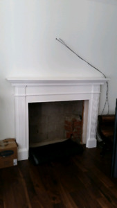Wood Mantle (Painted white)