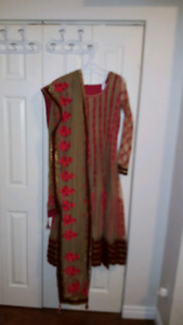 Full length embroidered indian dress