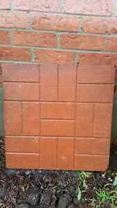 5 patio stones. 24x24 pink in colour