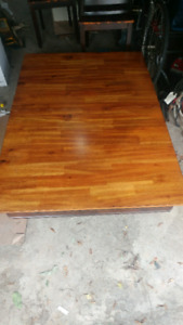 Solid hardwood dining room table