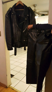 Leather pants only size large men