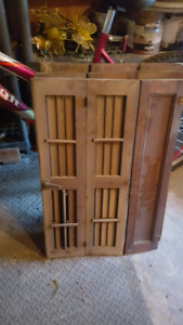 Victorian wood shutters from 1880's.