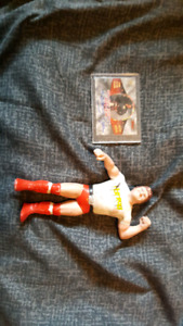Legend rowdy roddy piper auto card and toy