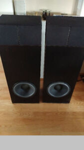R.W. Oliver huge heavy tower speakers all original work perfect