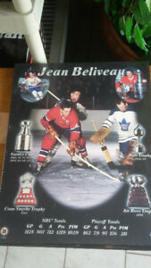 Jean Beliveau Wooden Plaque