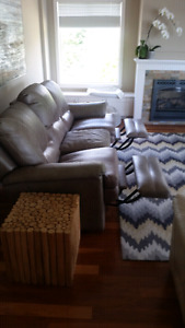 Recliner Couch and rug for sale
