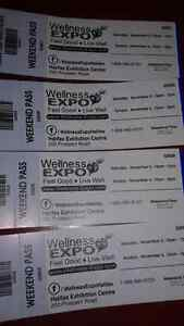 EXHIIBITION PARK (4) WELLNESS EXPO TICKETS