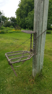 ''Hang on'' tree stand with tree steps included - $90,00
