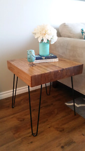 Rustic/industrial end tables (set of 2)
