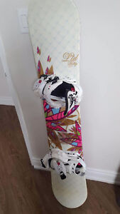 Ltd snowboard with k2 boots and bindings