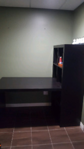 Desk with lots of shelves