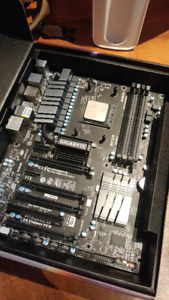 PC Motherboard, RAM, Processor, and cooling