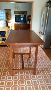 Dinning Table Counter Height Pine Vintage