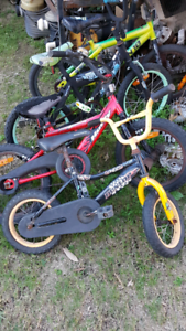 Kids bikes various prices from $10