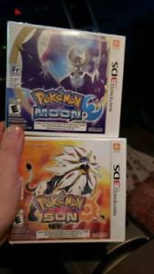 Sealed Pokemon Sun and Moon 35 ea or 60 for both
