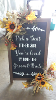 Rustic wedding declarations