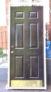 Metal Door and White Frame