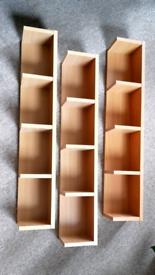 3 x Floating Shelves