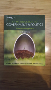 Political science textbook, intro to government and politics