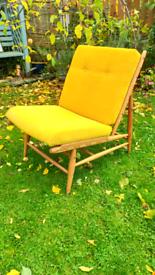 Vintage Ercol Blonde Floating Chair Midcentury