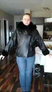 Magnifique manteau de cuir