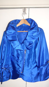 Royal Blue Taffeta Jacket.