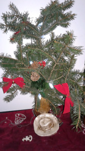 Country style Christmas deco