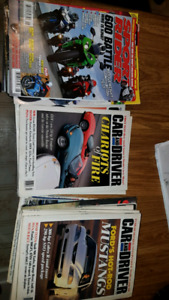Motorcycle super car magazine. Car and driver road and track