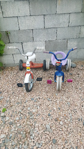 Two Toddler Tricycles