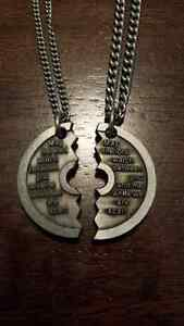 Shields Of Strength Split Couples Necklaces