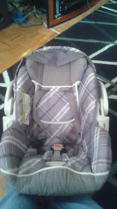 Car seat with head rest and strap covers for sale