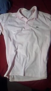 Lacoste polos 2 pink and blue large/ medium