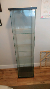 "Glass display case 5'4"" tall"