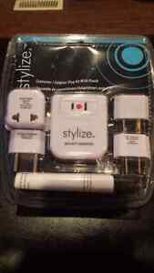 Plug adapter and converter for travelling