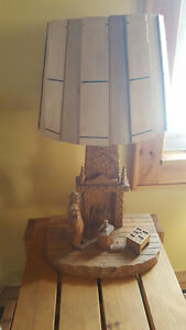 Wood Carved Lamps
