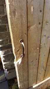 "Antique barn door 31.5"" by 76"" with original hardware London Ontario image 5"