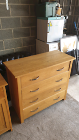 2 x Real wood Cabinet and Drawers