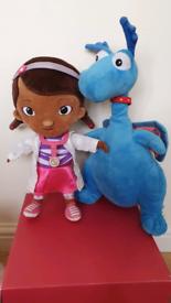 "Disney Doc McStuffin & Blue Talking Dragon plush soft toy 13"" Disney P"
