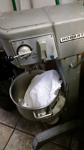 Hobart mixer and meat slicer