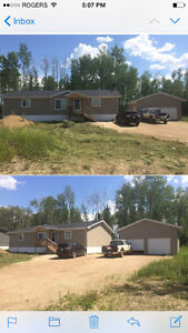 Fully furnished house with garage in wabasca