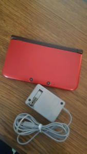 MINT CONDITION red 3ds XL with Pokemon X