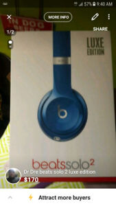 Dr Dre beats solo 2 luxe edition (blue) brand new sealed in box