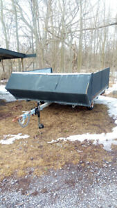 Trailer - Closed sides and Utility end gate - ATV, Utility, Sled