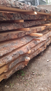 Pine Slabs With Both Sides Bark for DIY Wood Projects