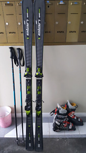 Pair of skis, boots and poles package!