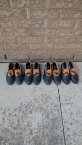 Four pairs of men's rubber shoes. $5.00 for each pair.