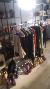 Lots of clothing, shoes etc