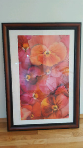 Large picture frame, flower poster